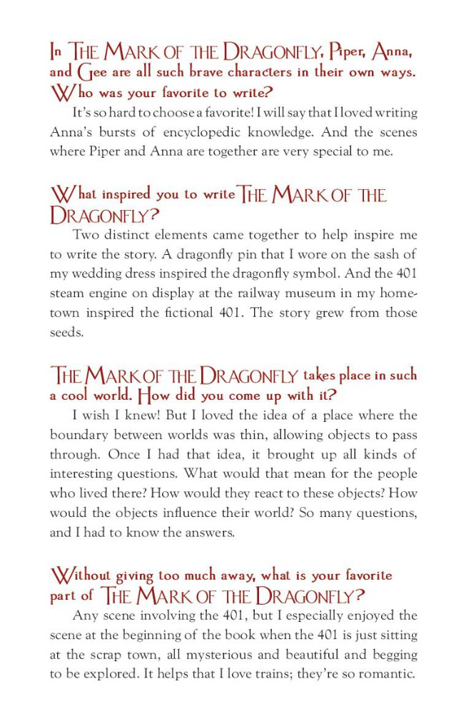 The Mark Of The Dragonfly Book Review And Ratings By Kids Jaleigh